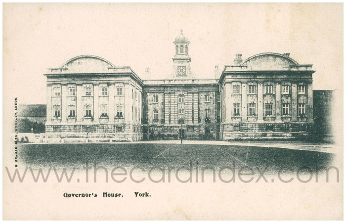 Postcard front: Governor's House, York