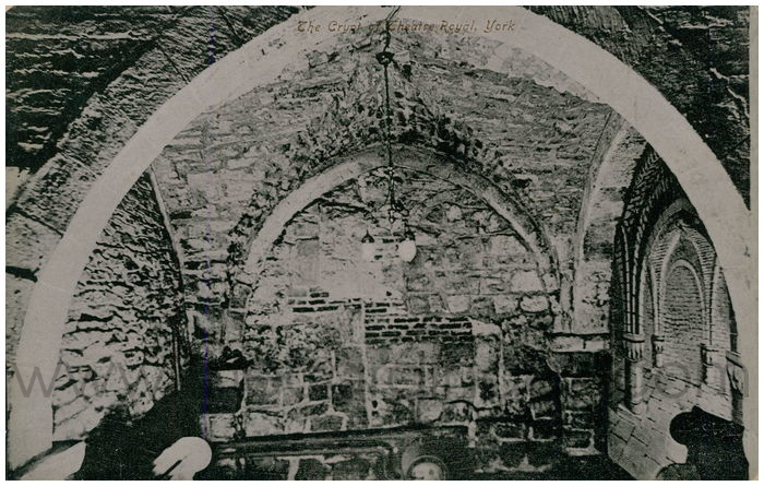 Postcard front: The Crypt of Theatre Royal, York