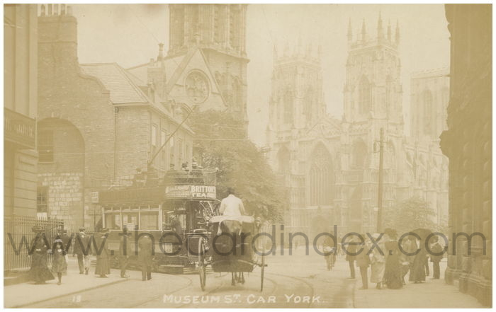 Postcard front: Museum St. Car York