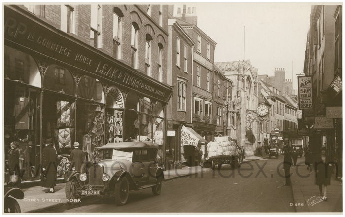 Postcard front: Coney Street. York