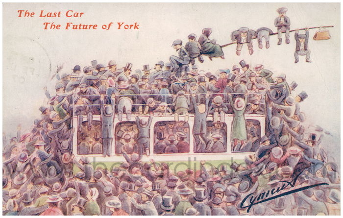 Postcard front: The Last Car The Future of York