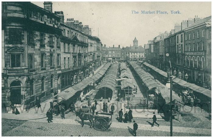 Postcard front: The Market Place, York