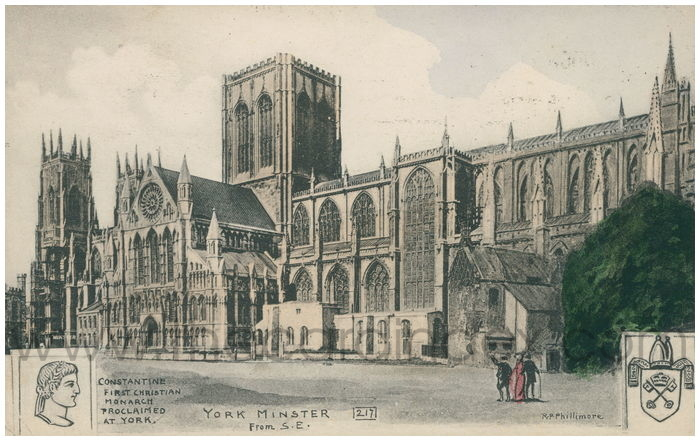 Postcard front: York Minster from S.E.