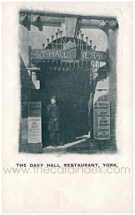 Postcard front: The Davy Hall Restaurant, York