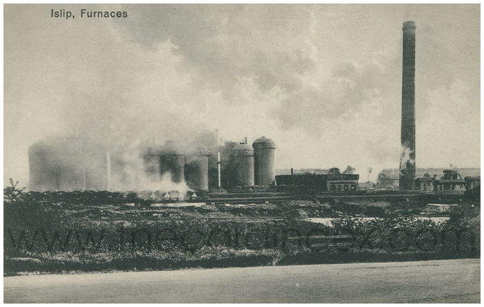 Postcard front: Islip, Furnaces