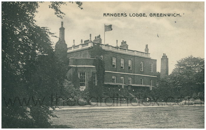Postcard front: Ranger's Lodge, Greenwich