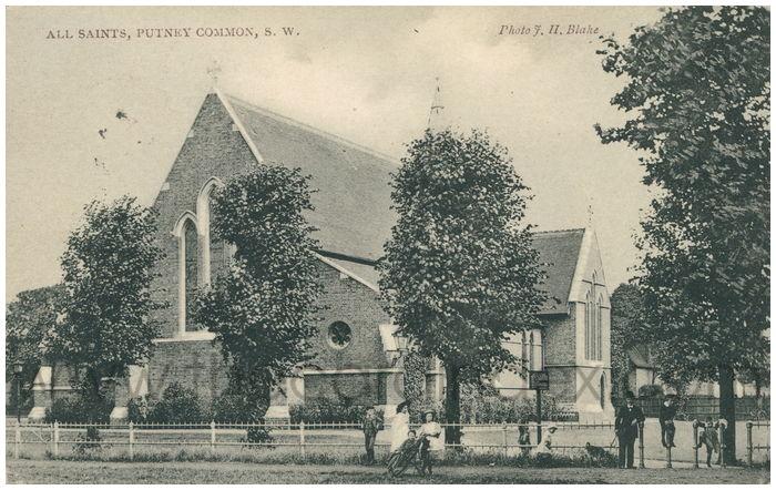 Postcard front: All Saints, Putney Common, S.W.