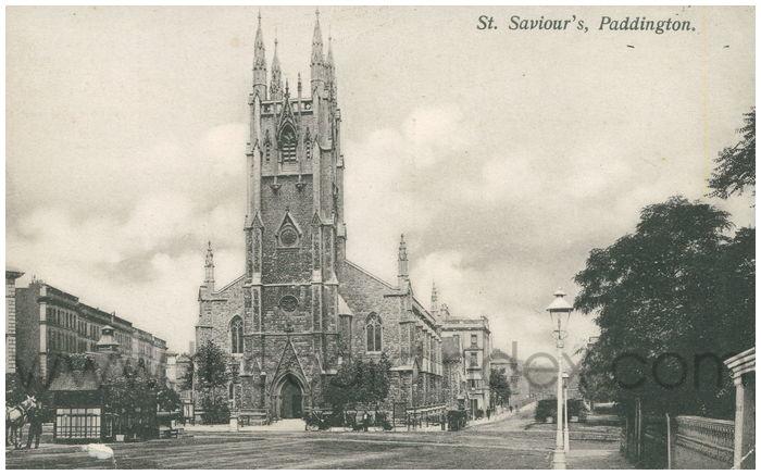 Postcard front: St. Saviour's, Paddington.