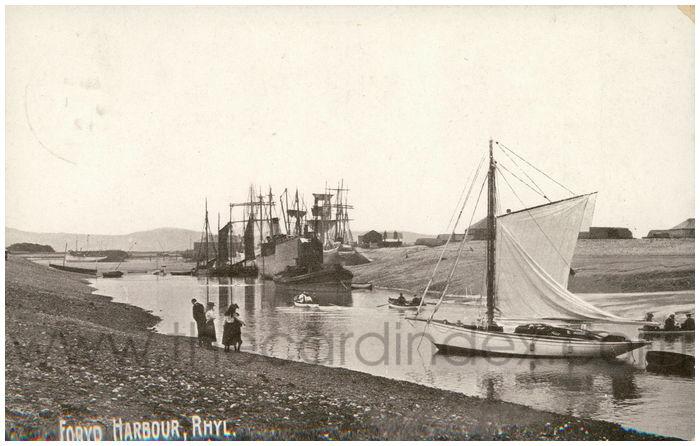 Postcard front: Foryd Harbour, Rhyl.