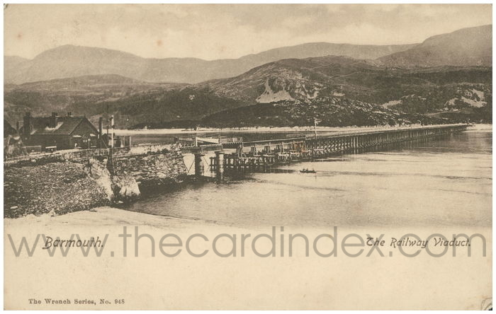 Postcard front: Barmouth. The Railway Viaduct