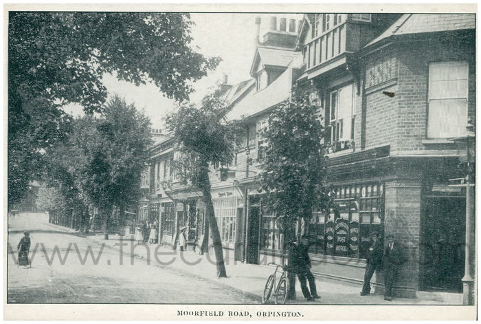 Postcard front: Moorfield Road, Orpington