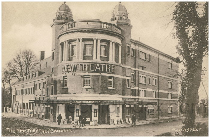 Postcard front: The New Theatre, Cardiff.