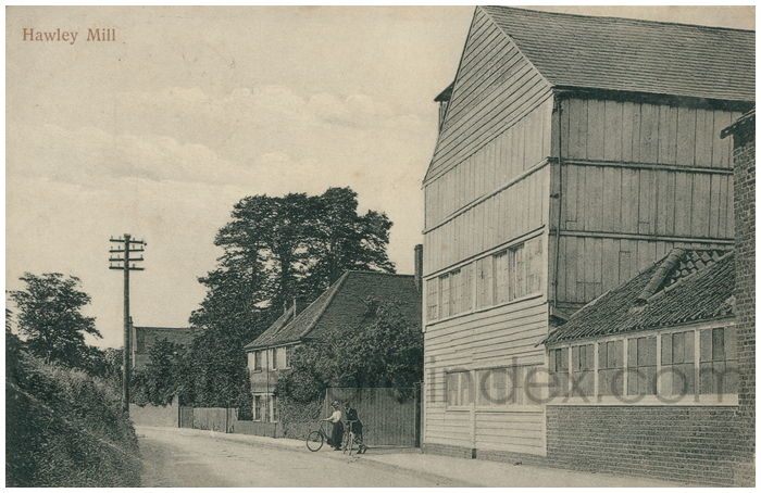 Postcard front: Hawley Mill