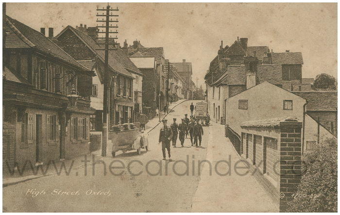 Postcard front: High Street, Oxted.