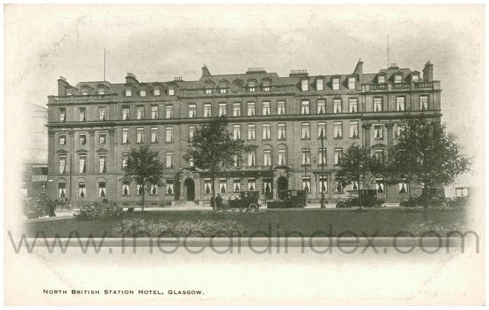 Postcard front: North British Station Hotel, Glasgow
