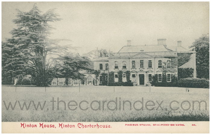 Postcard front: Hinton House, Hinton Charterhouse.