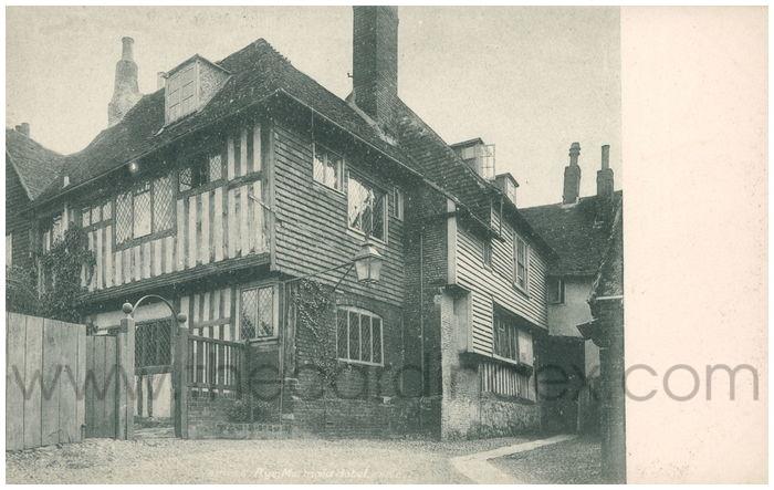 Postcard front: Rye. Mermaid Hotel