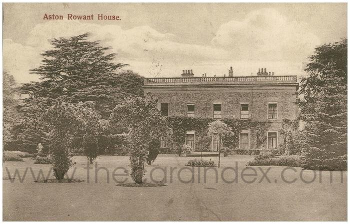 Postcard front: Aston Rowant House.