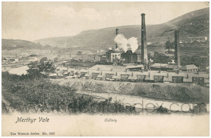 Postcard front: Merthyr Vale. Colliery