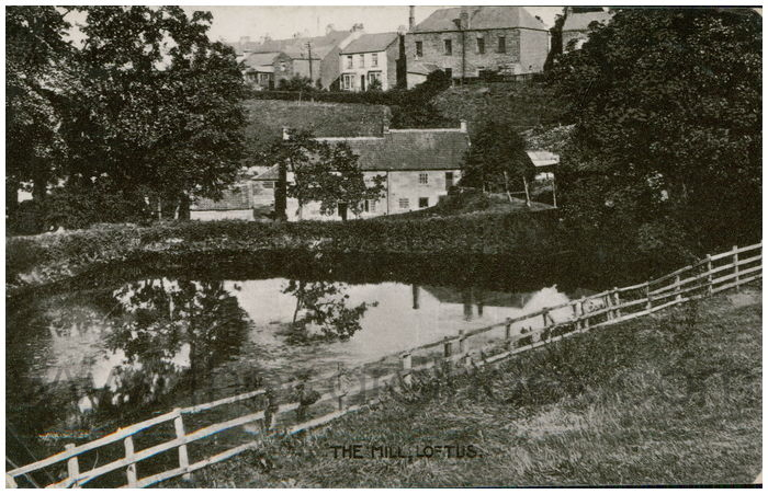 Postcard front: The Mill, Loftus.