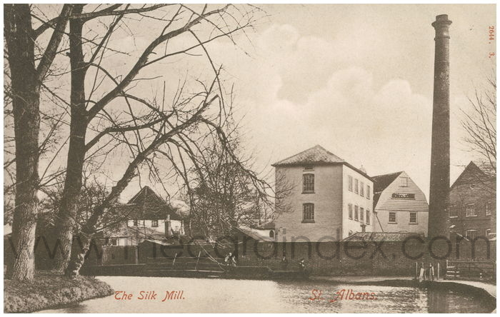 Postcard front: The Silk Mill, St. Albans.