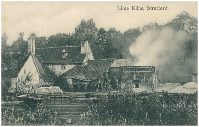 Postcard front: Lime Kilns, Stratford