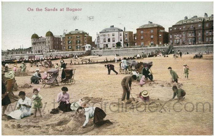 Postcard front: On the Sands at Bognor