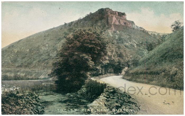 Postcard front: Topley Pike, Near Buxton.