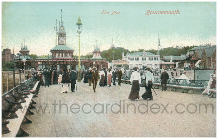 Postcard front: The Pier. Bournemouth.