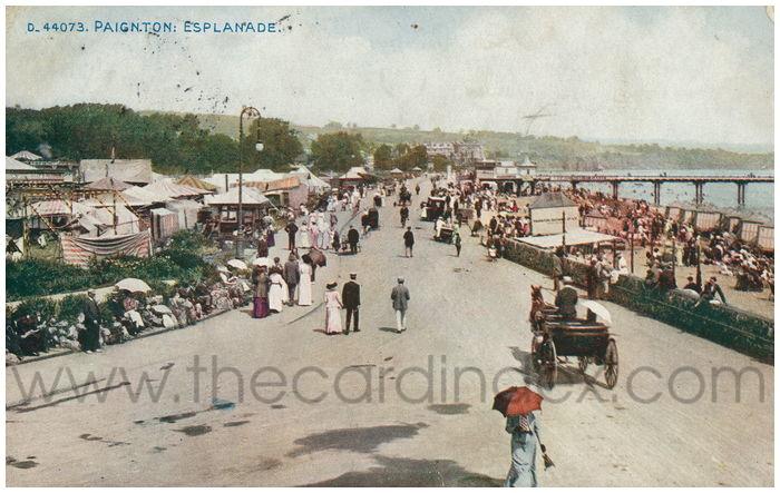 Postcard front: Paignton: Esplanade