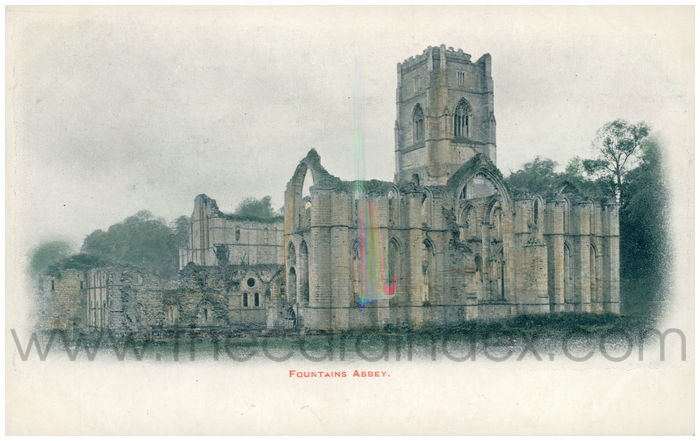 Postcard front: Fountains Abbey