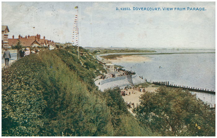 Postcard front: Dovercourt: View from Parade.