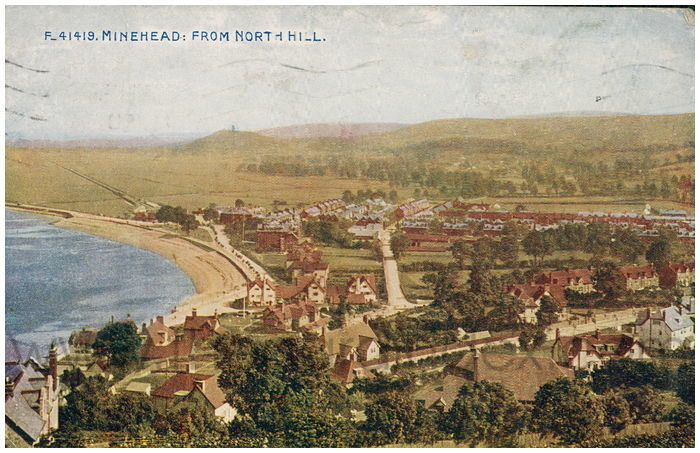 Postcard front: Minehead: From North Hill