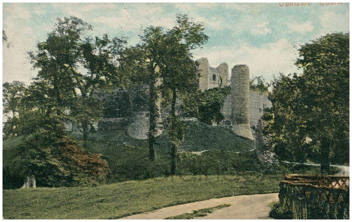 Postcard front: Conisbro'  Castle