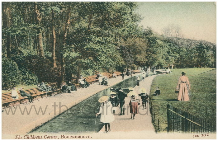 Postcard front: The Children's Corner, Bournemouth