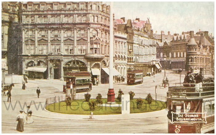 Postcard front: The Square, Bournemouth