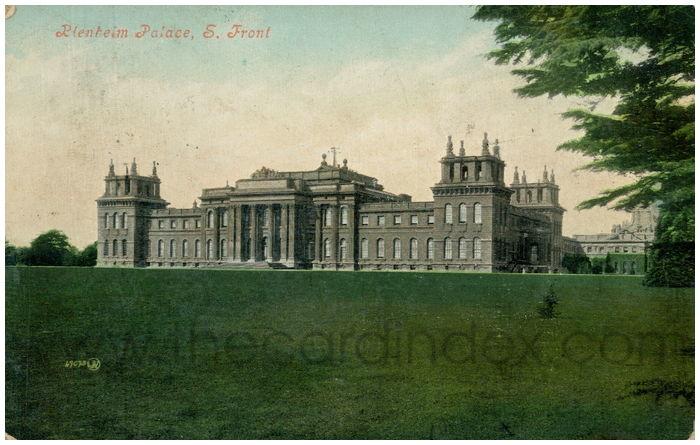 Postcard front: Blenheim Palace, S. Front.