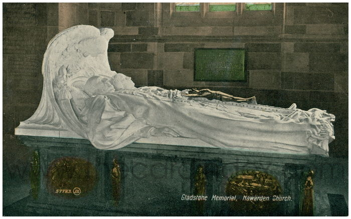 Postcard front: Gladstone Memorial, Hawarden Church.