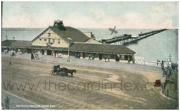 Postcard front: The Pier & Pavilion, Herne Bay.