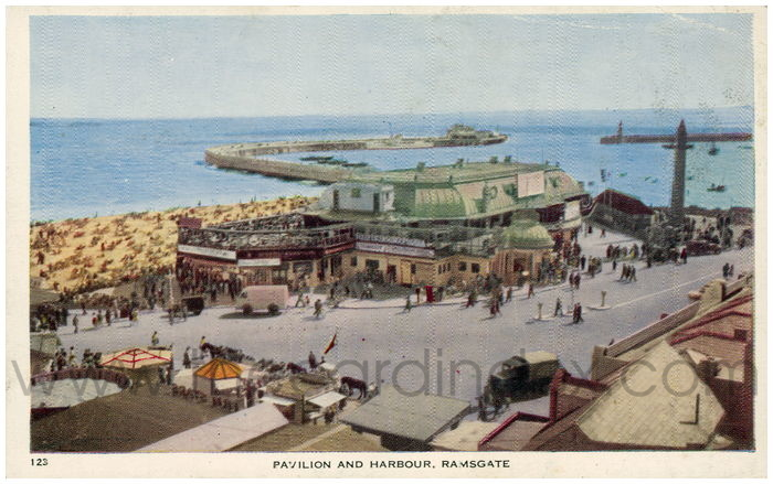 Postcard front: Pavilion and Harbour, Ramsgate.