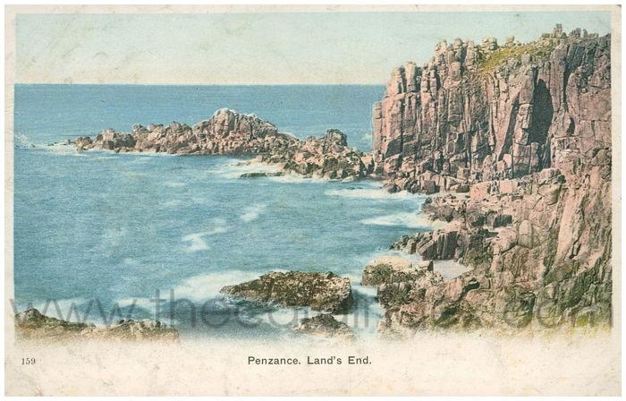 Postcard front: Penzance. Land's End.