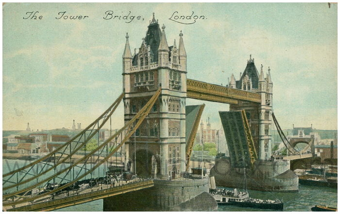 Postcard front: The Tower Bridge, London.