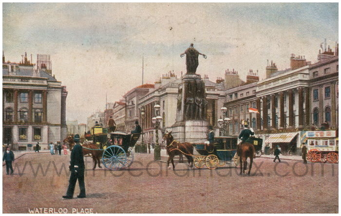 Postcard front: Waterloo Place.