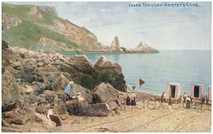 Postcard front: Torquay: Anstey's Cove.
