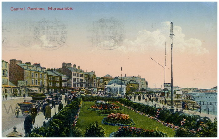 Postcard front: Central Gardens. Morecambe.
