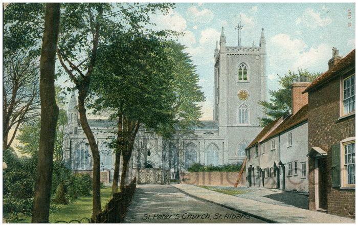 Postcard front: St. Peter's Church, St. Albans.