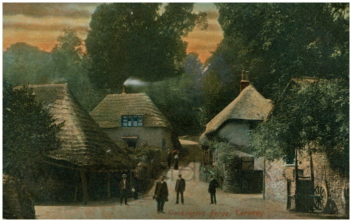 Postcard front: Cockington Forge, Torquay.