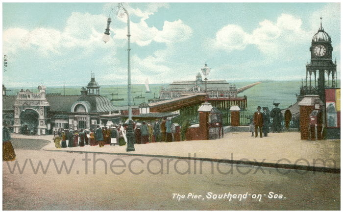 Postcard front: The Pier, Southend-on-Sea