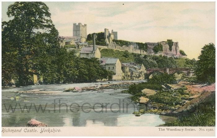 Postcard front: Richmond Castle, Yorkshire.
