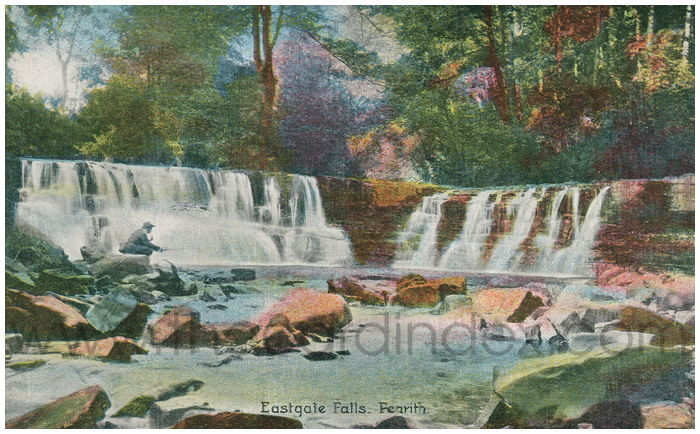 Postcard front: Eastgate Falls, Penrith.